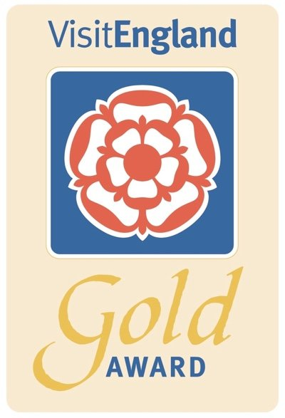 VisitEngland Gold Award for outstanding accommodation & customer service